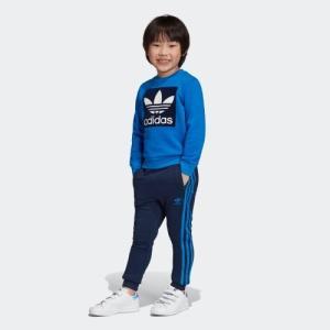 返品可 アディダス公式 ウェア セットアップ adidas クルー スウェット セットアップ p0924|adidas