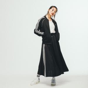 返品可 送料無料 アディダス公式 ウェア ボトムス adidas ロング サテンスカート|adidas