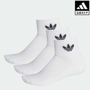 返品可 アディダス公式 アクセサリー ソックス adidas ミッドカットクルーソックス 3足組|adidas Shop PayPayモール店