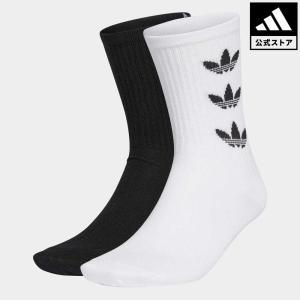 セール価格 返品可 アディダス公式 アクセサリー ソックス・靴下 adidas トレフォイルカフ クルーソックス 2足組の画像