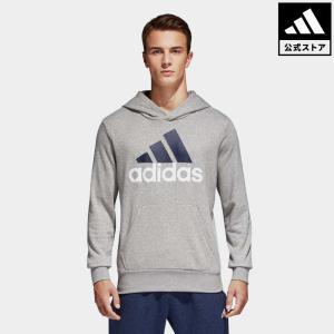 セール価格 アディダス公式 ウェア トップス adidas M ESSENTIALS リニアロゴ スウェットプルオーバーパーカー (裏毛)|adidas