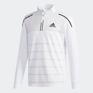セール価格 アディダス公式 ウェア トップス adidas CP ストライプ 長袖 ジップモック【ゴルフ】|adidas