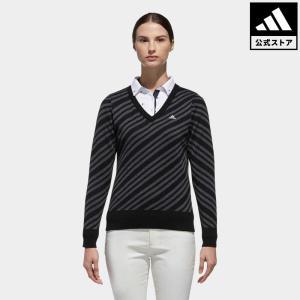 セール価格 アディダス公式 ウェア トップス adidas CP バイアスストライプ 長袖 Vネックセーター【ゴルフ】|adidas
