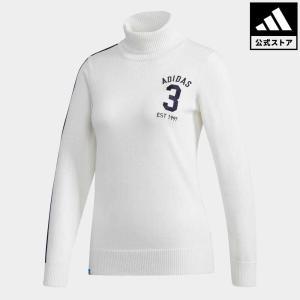 セール価格 アディダス公式 ウェア トップス adidas adicross スリーストライプ タートルネックセーター【ゴルフ】|adidas