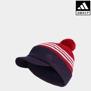 セール価格 アディダス公式 アクセサリー 帽子 adidas CP ストライプバイザーニットキャップ【ゴルフ】|adidas
