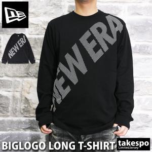 ニューエラ 長袖Tシャツ メンズ 上 NEW ERA ロンT グラフィック ビッグロゴ 長袖 12855373 BLK 送料無料 新作|adistyle