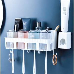 小物収納 雑貨収納 コップホルダー コップ スタイリッシュ 衛生的 歯磨きスタンド 歯ブラシ立て 多種類 歯ブラシ収納ケース 便利 スタンド|adlibitum