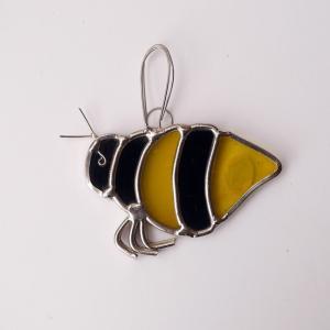 ガーデンピック ステンドグラス ミツバチ1 飾り物 ハンドメイド|adlife