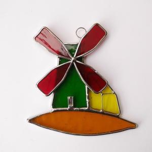 ガーデンピック ステンドグラス 風車1 飾り物 ハンドメイド|adlife