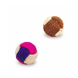 YATDA 猫 おもちゃ 猫 ボール 噛むおもちゃ 麻縄 ボール 運動不足やストレス解消 ダ イエット レーニングなど 猫遊び用 (色組み合わせ)|adnext