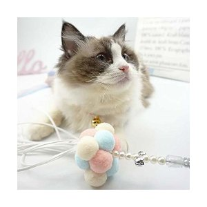 tamagomaki人気猫じゃらし 猫おもちゃ ネコあそび ネズミおもちゃ フリンジ付き 猫おもちゃボール 猫用品 棒 ペット用品 ストレス解消 運|adnext