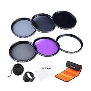 カメラフィルター 62mm、K&F Concept 62mmフィルターキット(UV+CPL+FLD+ND2 ND4 ND8)保護フィルター|adnext