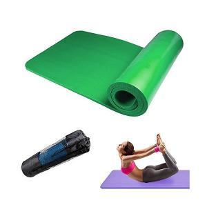 床を傷つけない 滑り止め溝 専用ケース付き 2cm 極厚20mm ヨガマット トレーニングマット ヨガ トレーニング 【グリーン】|adnext