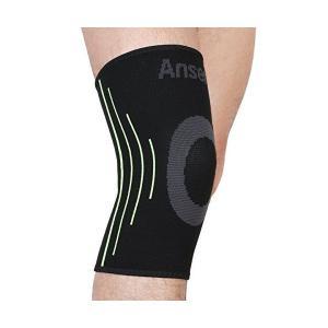ANSER A02 ブラック弾性スポーツ脚膝サポートブレースラッププロテクター膝パッドスリーブキャップ膝蓋骨ガードバレーボール膝 - 1PCS (L|adnext