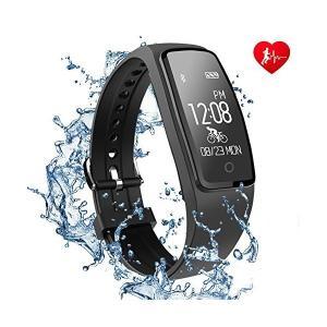 スマートブレスレット Apple Health Google fit 対応 JUSTCOOL IP67 防水 Line通知 スマートウォッチ 腕時計 adnext