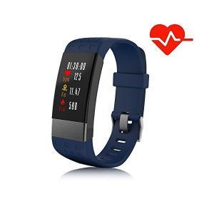 2018最新版 スマートブレスレット血圧計 心拍計 歩数計 TALENANA スマートウォッチ i7Plus 0.96インチ HDカラフルスクリーン adnext
