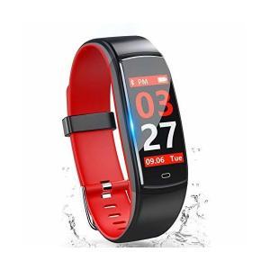 スマートウォッチ 【2018最新】 iphone 対応 IP67防水 カラースクリーン スマートブレスレット 血圧 心拍計 歩数計 活動量計 アラ adnext