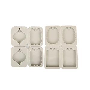 LeafIn 長方形 スペード 楕円 ドア 穴あき 通し穴 2個セット シリコンモールド アロマストーン アロマワックスサシェ 型 石鹸 キャンドル adnext