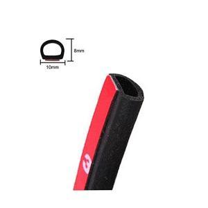 車用 ゴム ウェザー ストリップ 静音 設計 風切り音 遮断 ドア モール 防水 小D型 10メートル … (小 D型)|adnext