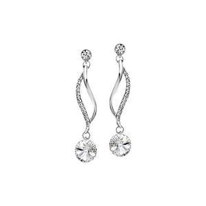 (ネオグロリー)Neoglory Jewelry スワロフスキーからクリスタル飾る ホワイトゴールドピアス レディース キャッチ ぶらさがり 人気|adnext