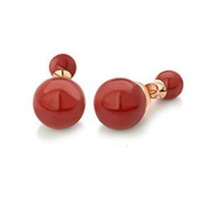 【Petit Lulu shop】 ピアス レディース バックキャッチ パール 真珠 ダブルパールピアス 18金RGP ピンクゴールド プチルルオリ|adnext