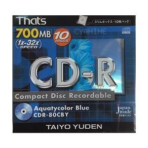 That's 太陽誘電製 CDR-80CBY 700MB 1x32倍速 10枚入り adnext