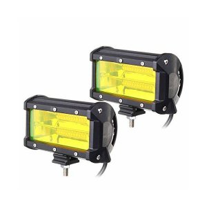 BOSLLA LED作業灯 デッキライトワークライト広角 LED投光器 72w led DC12V-24V 6000K 5インチ兼用 広角照明 IP|adnext