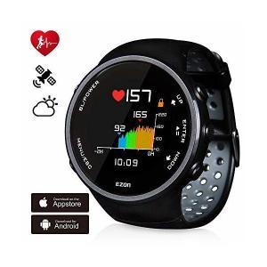 ランニングウォッチ GPS 心拍計  デジタル ウォッチ 防水 Bluetooth搭載 歩数計活動量計 睡眠検測 着信通知 専用日本語アプリ対応 E|adnext