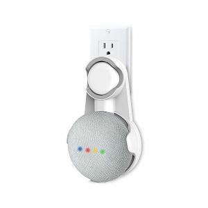 Google Home Mini 壁掛けホルダー コード収納 プラグ固定ゴム付き 充電しながら使用可 グーグル ホームミニ 壁掛け マウント(ホワイ adnext