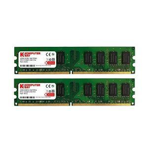 Komputerbay  8GBメモリ  2枚組  4GBX2   DUAL  デスクトップパソコン用 増設メモリ  DDR2   PC2-5300|adnext