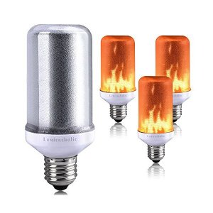 キャンドルライト Lumiereholic 揺らぐ炎 LED電球 E26 蝋燭 ロウソク 安全 装飾 点滅灯 フレームランプ 炎ライト 炎電球 バー|adnext