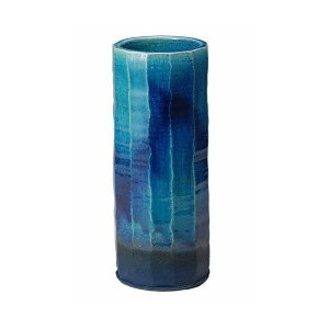 青ガラス面取花入 信楽焼 陶器 花器 花入 花瓶|adnext