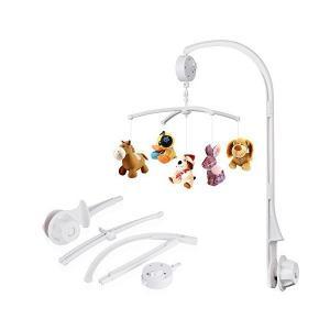 LOBKIN ベビー おもちゃ ベッドメリー オルゴール ベッドアームブラケット付き 手巻き式 ワインドアップオルゴール 子供用寝具(人形なし)|adnext
