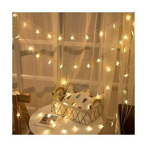 LEDスターライト イルミネーションライト6m 40球 LED ソケット式 装飾ライトストリング ライト 星形 フェアリーライト クリスマス ツリー|adnext