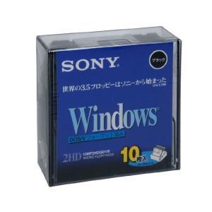 SONY 2HD フロッピーディスク DOS/V用 Windowsフォーマット 3.5インチ ブラック 10枚入り 10MF2HDQDVB|adnext