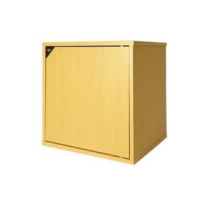 キューブボックスα 鍵付きタイプ【同一カギ】 ナチュラル / 扉付き 収納ボックス 鍵付き ロッカー 木製 カラーボックス 1段 キャビネット ナチ|adnext