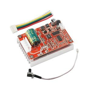 DROK ブラシレスDCのモータドライバ モータ速度コントローラ DC 6-50V 3フレーズブラシレス 12V 24V モータドライバレギュレータ|adnext