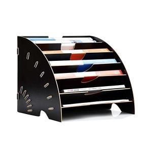 書類 レターケース 木製 A4 ファイルボックス 資料 本 新聞 雑誌 収納ケース マガジンラック 事務用品 デスク上置き棚 オリジナル 扇形 文房|adnext