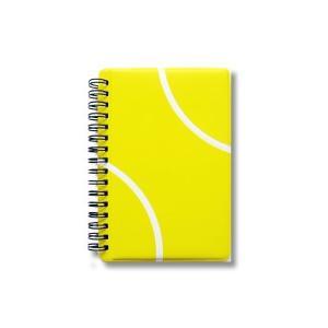 テニスノート 作戦ノート テニスボール柄 リングタイプ【A6サイズ】|adnext
