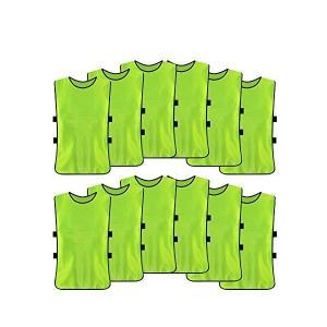 サッカー ビブス トレーニングビブス サッカー イベント 軽量良通気 12枚セット (緑)|adnext