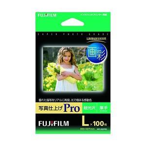 FUJIFILM 写真用紙 画彩 超光沢 厚手 L 100枚WPL100PRO|adnext