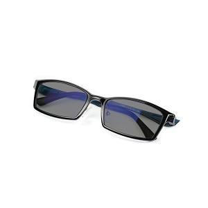 KLESIA  超軽量 変色調光偏光 有害光線対応可 紫外線99%カット 眼鏡 (ブラック)|adnext