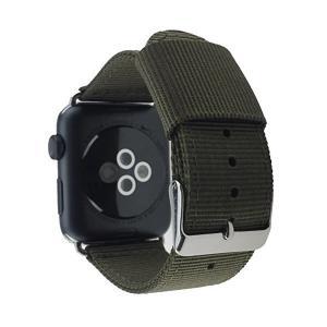 ヴィーコ不織布ナイロン Apple Watch バンド 38 mm 緑の銀のクラシック ・ バックル、交換用の布シリーズ 2 ・ 1 スポーツの男性 adnext