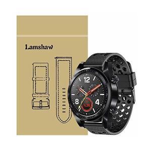 Lamshaw Huawei Watch GT バンド, スポーツ シリコン 交換バンド ベルト 対応Huawei Watch GT 腕時計 スマー adnext