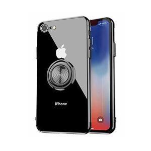 iPhone8ケース/iPhone7ケース リング付き 透明 TPU 耐衝撃 クリア 車載ホルダー対応 軽量 薄型 擦り傷防止 クリア 取り出し易い|adnext