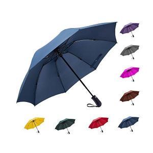 Fidus 折りたたみ傘 ワンタッチ自動開閉 逆折り式 完全遮光 UVカット率99.9% 高強度グラスファイバー8本骨 耐風撥水 晴雨兼用 レディー|adnext