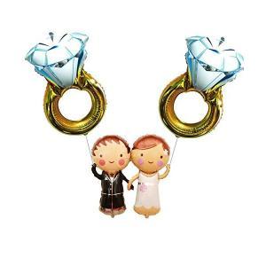 風船 結婚式 誕生日 開店祝い 結婚祝い ギフト 新郎新婦 ダイヤの指輪 フラワー バルーン アレンジ メントパステルカラー 人気 二次会 電報 パ|adnext