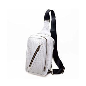 (Marib select) 斜めがけバッグ ボディバッグ イントレチャート エンボス加工 PUレザーワンショルダー メンズ バッグ 鞄 #b871 adnext