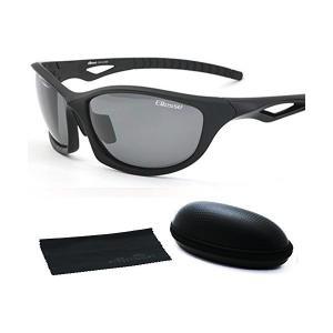 エレッセ スポーツサングラス メンズ 偏光レンズ ES-S203H ブラックマット/ブラック|adnext