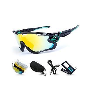M.O.C evo スポーツサングラス レンズセット 5枚交換レンズ 偏光サングラス 偏光 uv400 超軽量 サイクリング ロードバイク ゴルフ|adnext